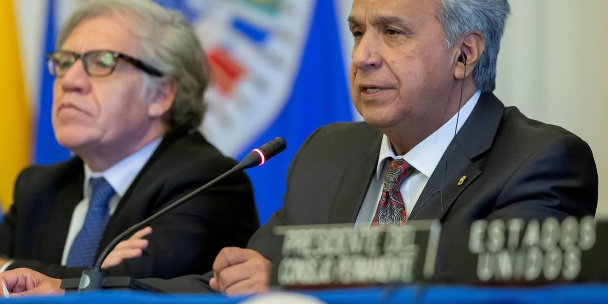 Lenín Moreno lamentó la muerte del expresidente de Perú, Alan García