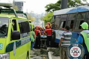 accidente de Transurbano en zona 6