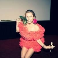 Miley Cyrus se desnudó para subir al cartel de Hollywood Roosevelt Hotel