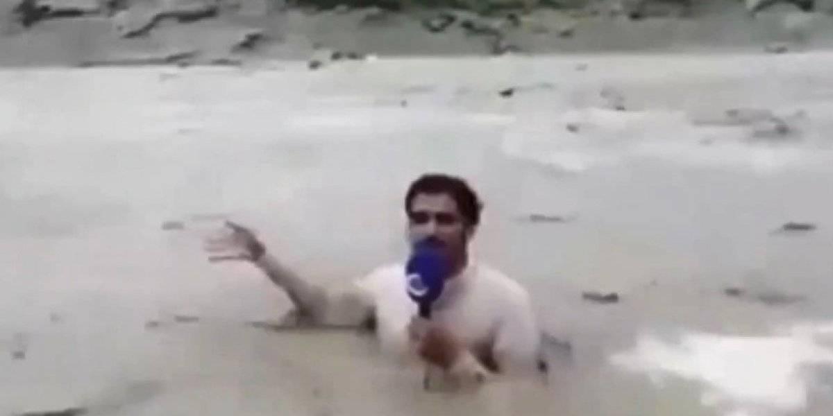 Jornalista dá notícia sobre enchente de forma inusitada e vídeo vira meme no Twitter