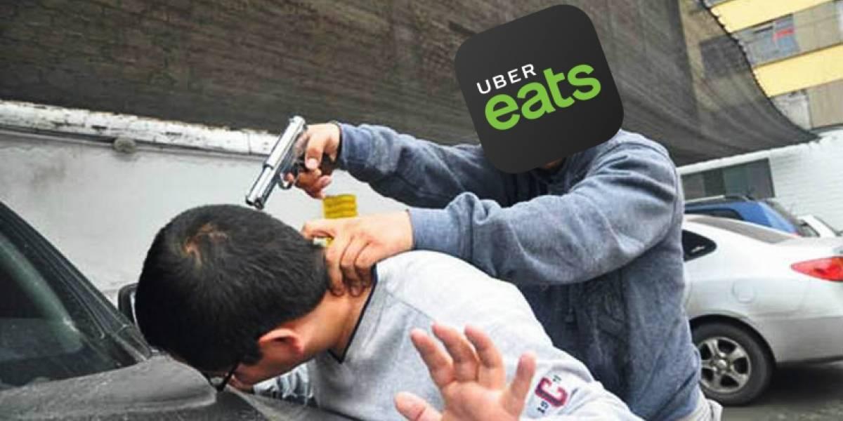 En México están asaltando automóviles usando la mochila de Uber Eats