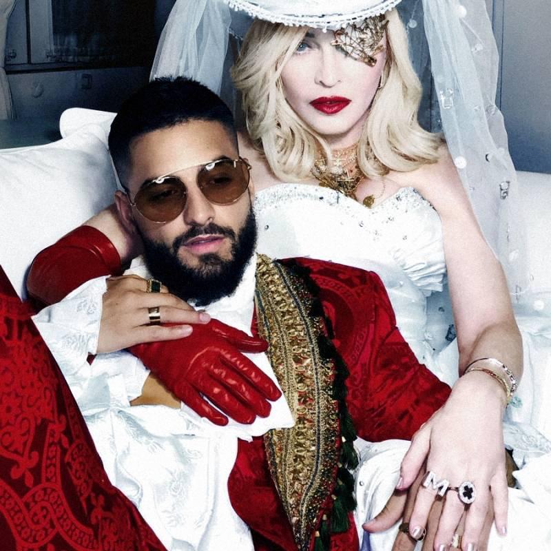 Madonna y Maluma bailaron muy pegaditos