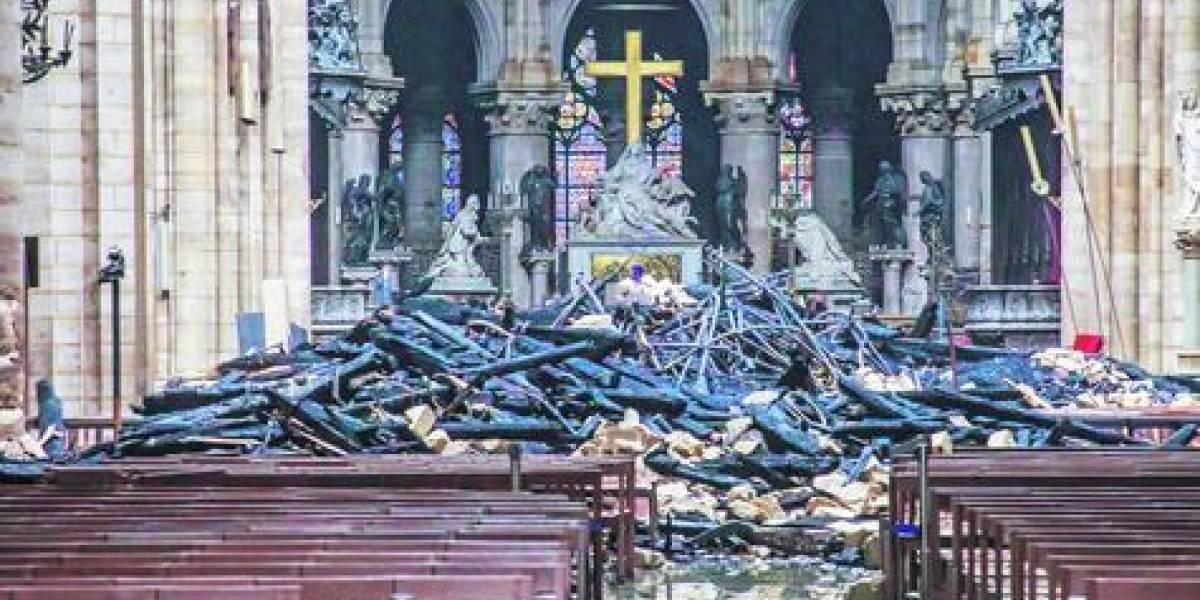 Lo que se salvó y perdió tras el incendio en la Notre Dame
