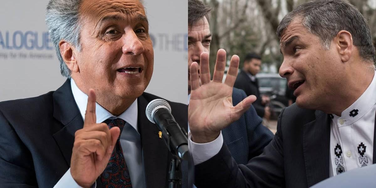 """Lenín Moreno dice que si Rafael Correa regresa a Ecuador """"va a la cárcel"""""""
