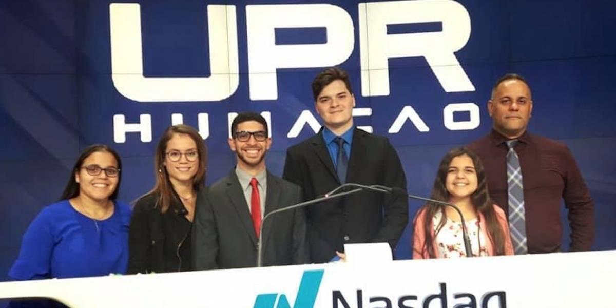 Estudiantes UPR Humacao hacen historia en Wall Street