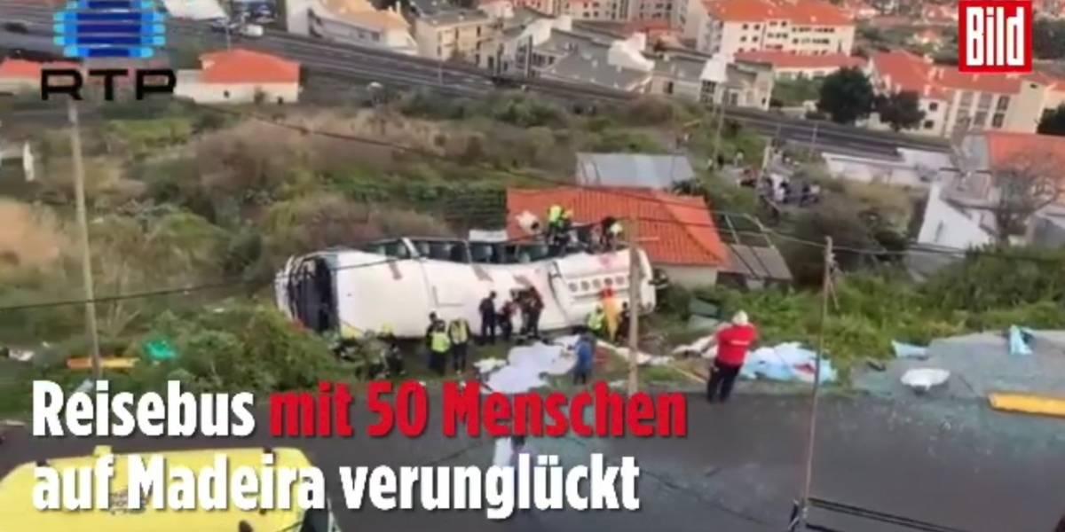 Acidente com ônibus turístico deixa 28 mortos em Portugal