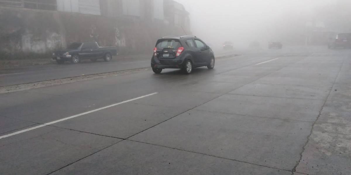 Bomberos alertan por lluvia y neblina en la ruta Interamericana