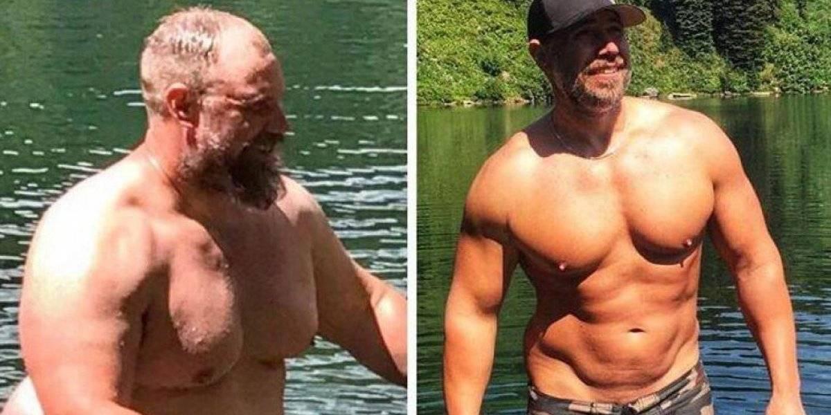 Nada es imposible: el sorprendente antes y después de un padre que bajó 40 kilos en 5 meses