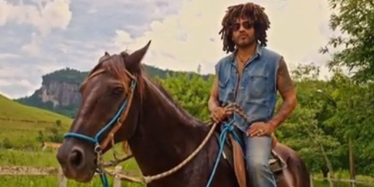 VÍDEO: Lenny Kravitz apresenta fazenda que é dono no Rio de Janeiro