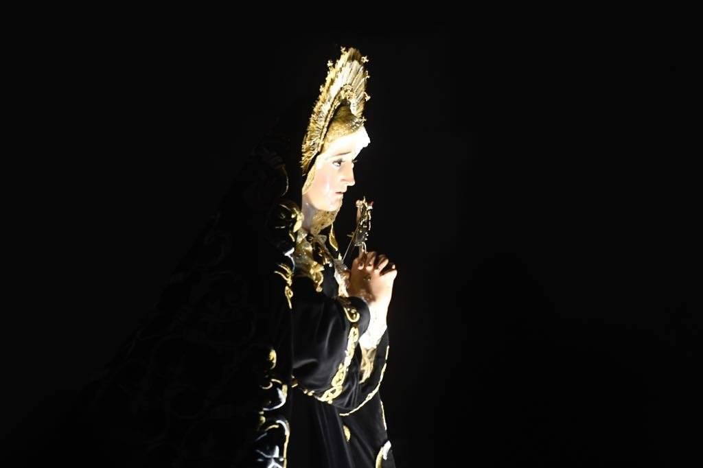 Virgen de Soledad del templo de La Recolección Omar Solís