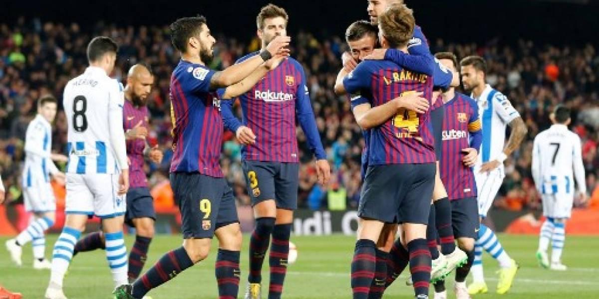 Barcelona acaricia el título tras su triunfo ante la Real Sociedad