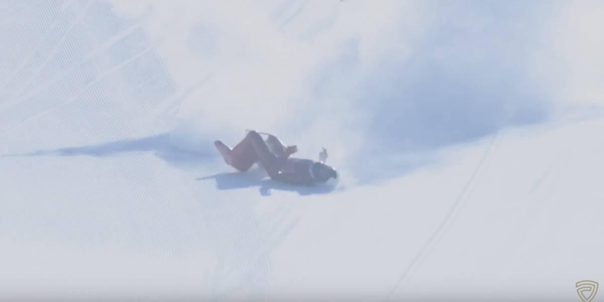 VIDEO: Esquiador cae a 170 km por hora y peligra su vida