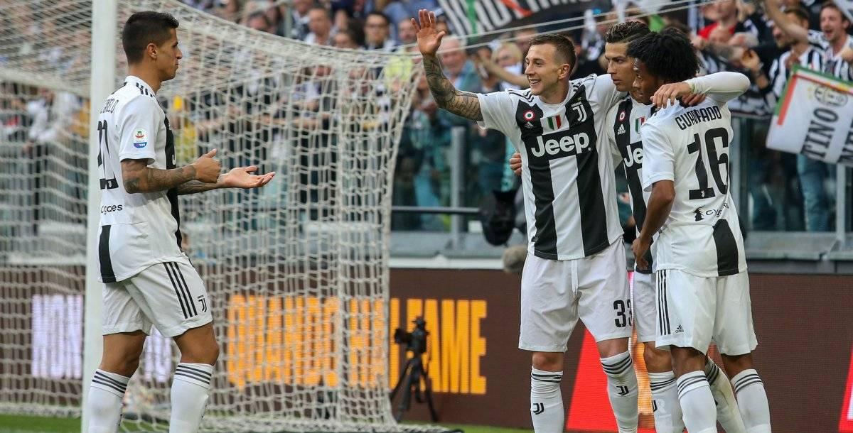 Cristiano generó la anotación que les significó el campeonato 35 de la Juve  GETTY IMAGES
