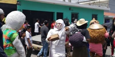 Quema de Judas en calzada Doroteo Guamuch Flores
