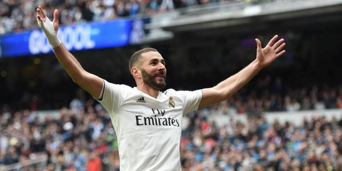 Benzema da triunfo al Real Madrid con triplete histórico