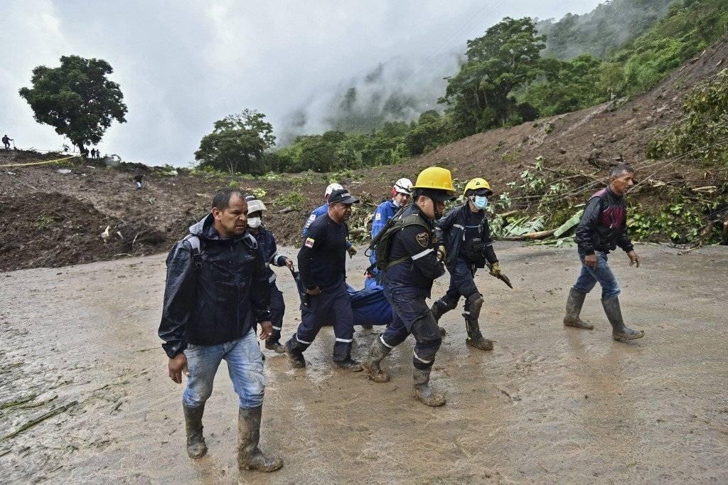 Deslave en Rosa, Cauca, Colombia AFP