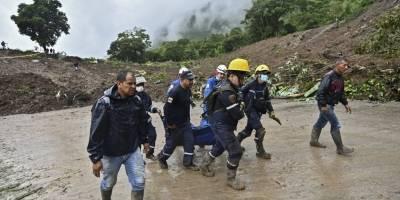 Deslave en Rosa, Cauca, Colombia