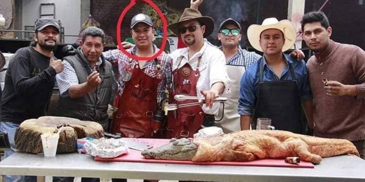 Señalan a esposo de regidora de salud de Huejotzingo por matar y cocinar cocodrilo