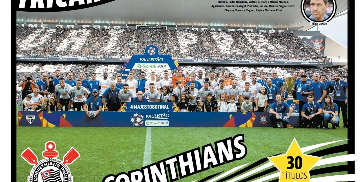 É do Corinthians! Baixe o pôster do tricampeão do Campeonato Paulista