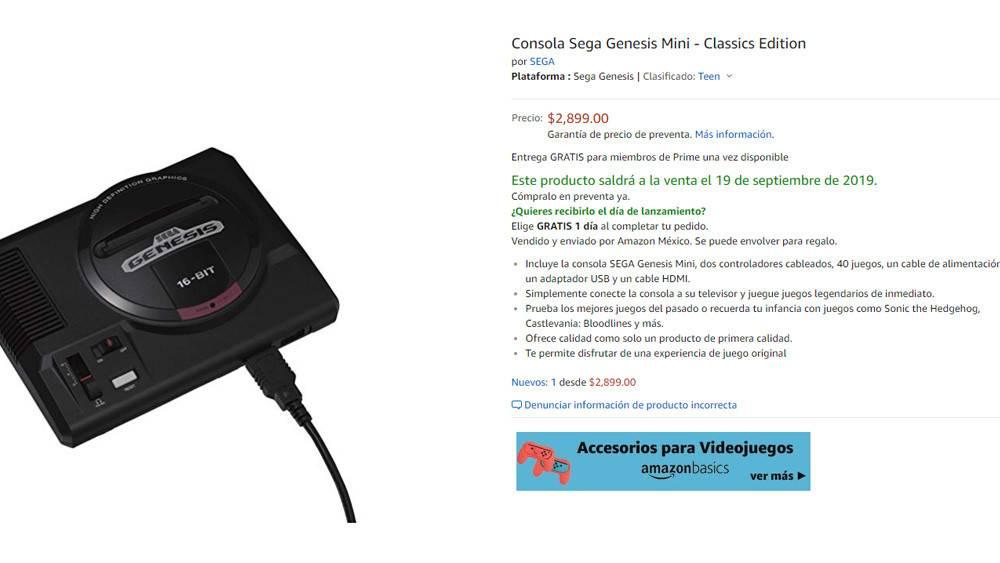 Sega Genesis Mini México