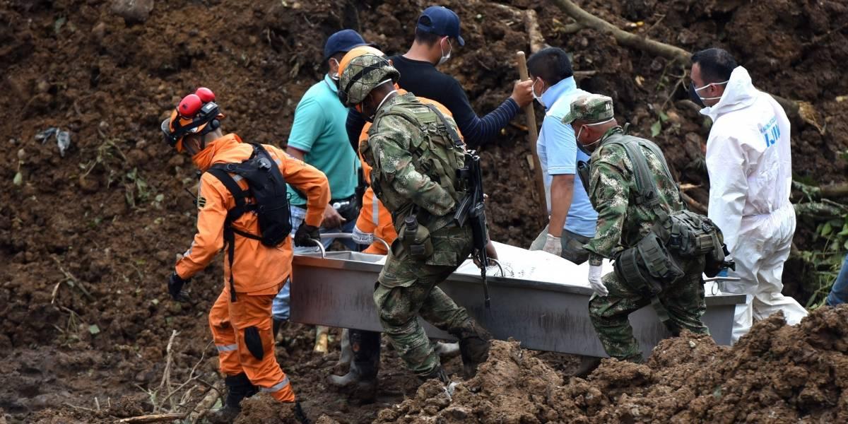 Ya son 28 los fallecidos por el derrumbe en el Cauca