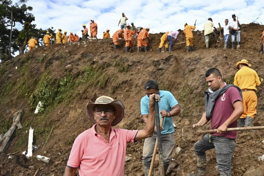 Deslave en Rosas, Colombia