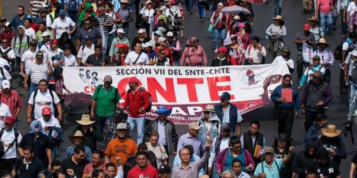 CNTE convoca a paro nacional y mega marcha contra Reforma Educativa