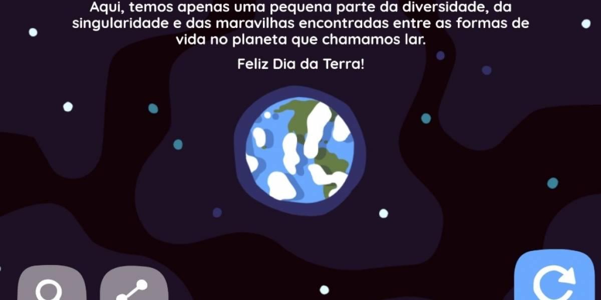Google lança doodle especial para comemorar 'Dia da Terra'