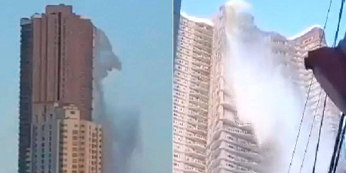 Vídeo de terremoto nas Filipinas mostra momento impactante em que piscina de edifício de 53 andares começa a vazar