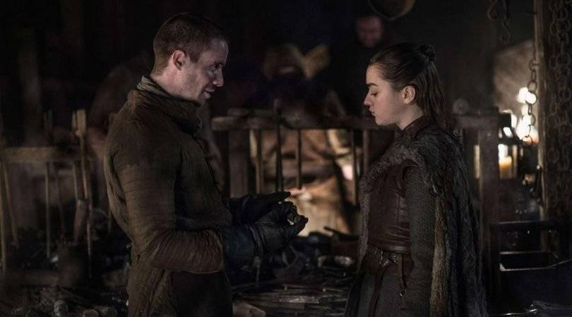 Gendry y Arya