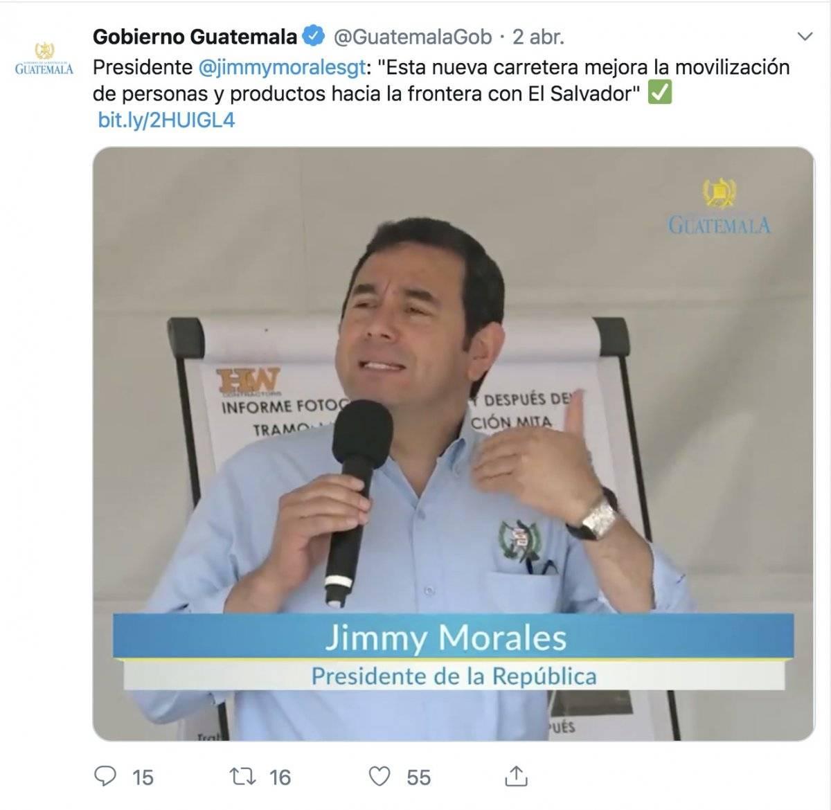 Estas fueron las publicaciones que hizo el gobierno el día en que se reunió el presidente Morales y el presidenciable de la UCN.