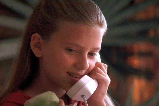 Scarlett Johansson cuando era niña