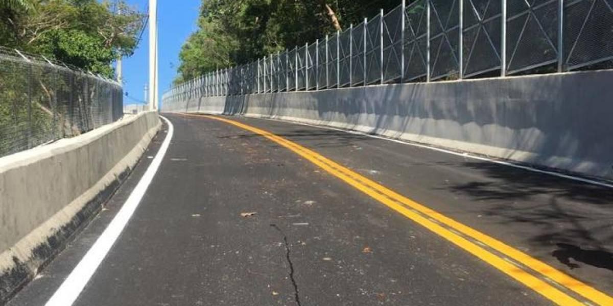 Reabren la carretera PR-110 de Moca