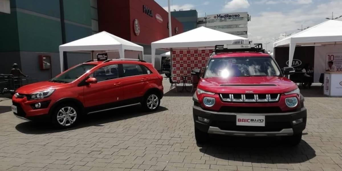 BAIC expuso sus modelos en el Centro Comercial El Recreo