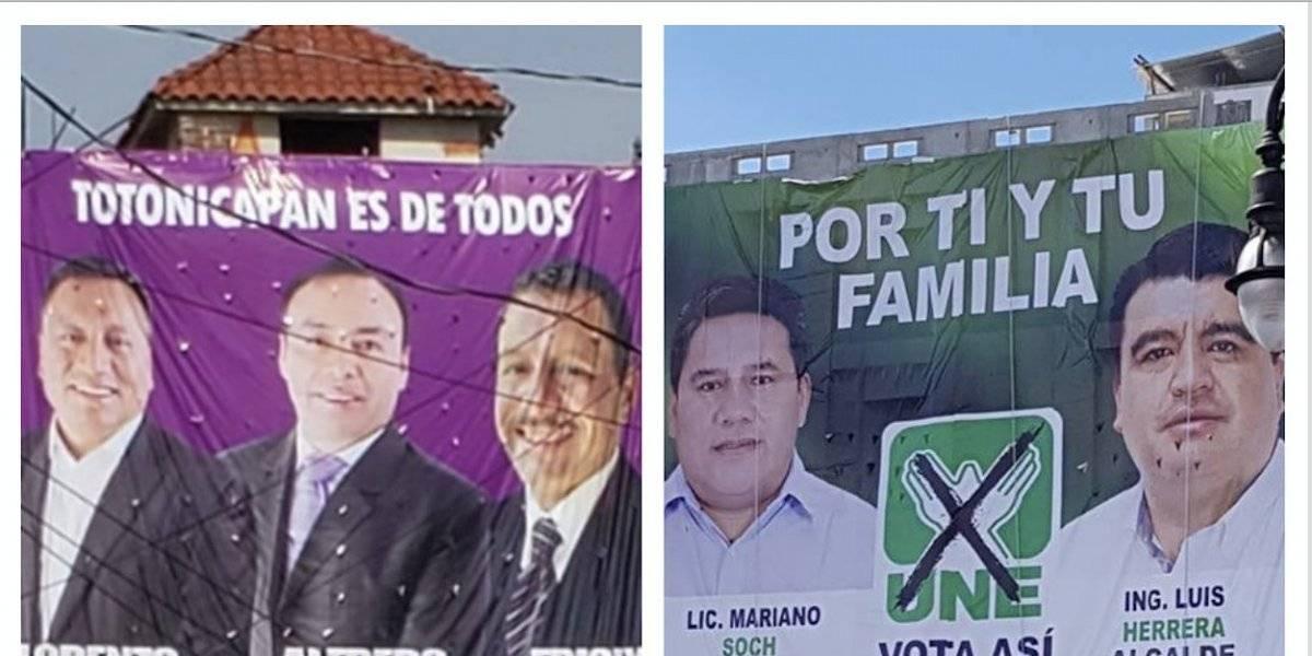 Candidatos de UNE y Todos hacen campaña, pese a prohibición