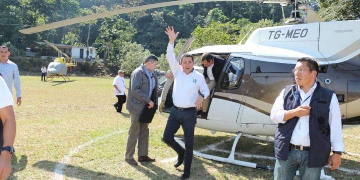 Contradicciones por uso de helicóptero de Mario Estrada