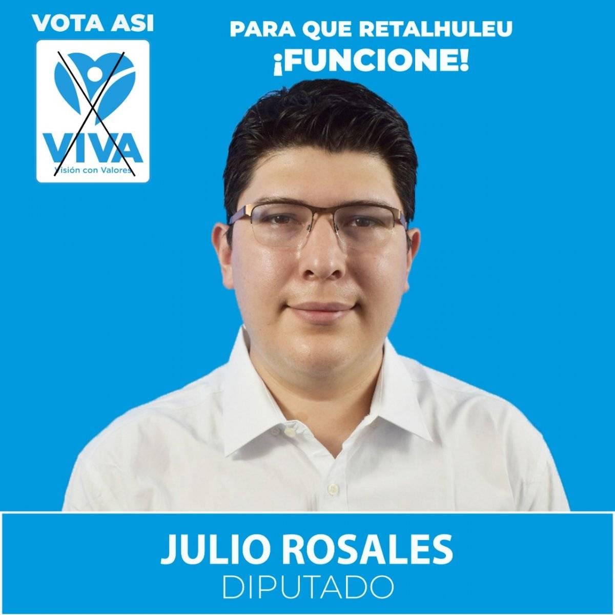 Julio José Rosales, candidato Viva