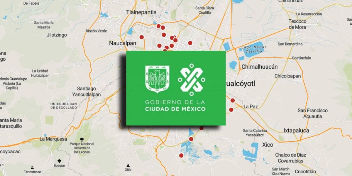 Se dio a conocer un mapa con la ubicación de las fotocívicas en la CDMX
