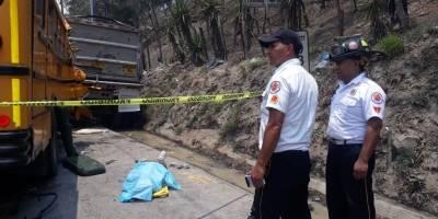 accidente en ruta entre Palín y Escuintla