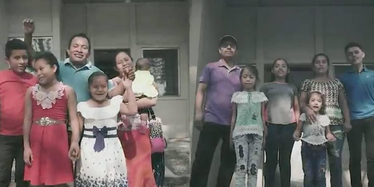 VIDEO. Víctimas del volcán de Fuego agradecen a Luis von Ahn donación de casas