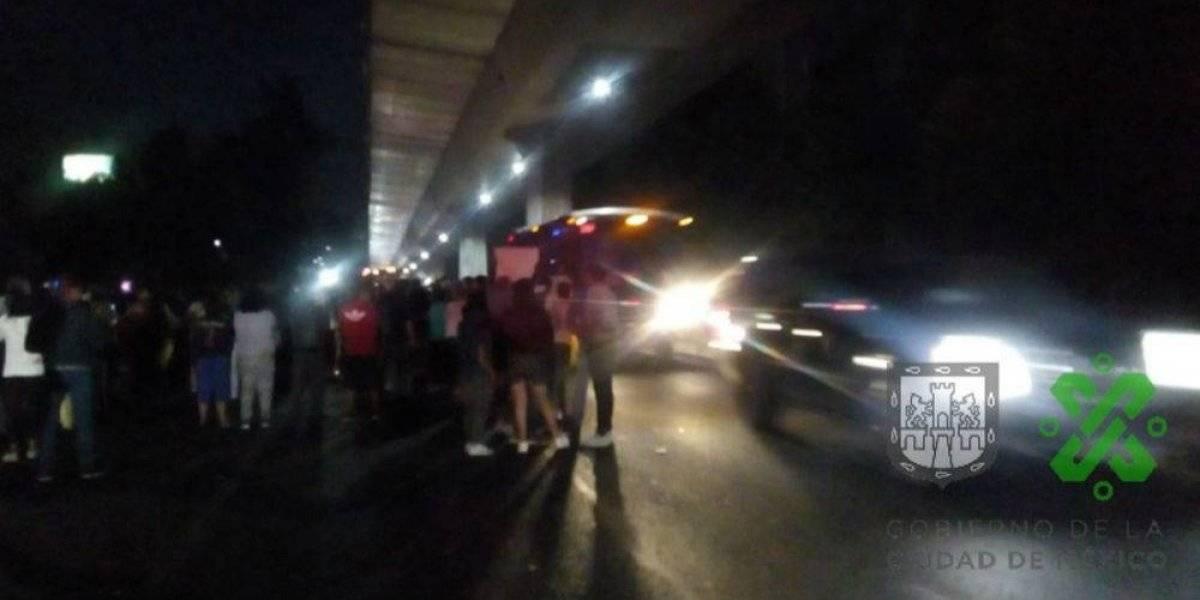 Otra vez bloquean la autopista México-Cuernavaca