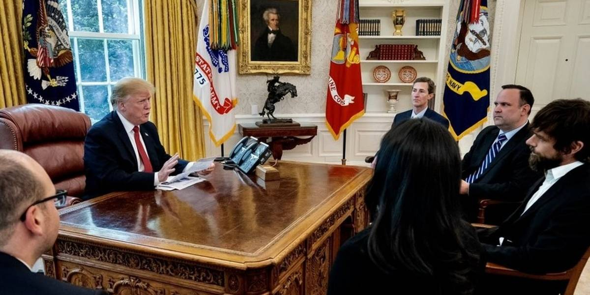 Jack Dorsey, CEO de Twitter, tuvo una reunión a puerta cerrada con Donald Trump