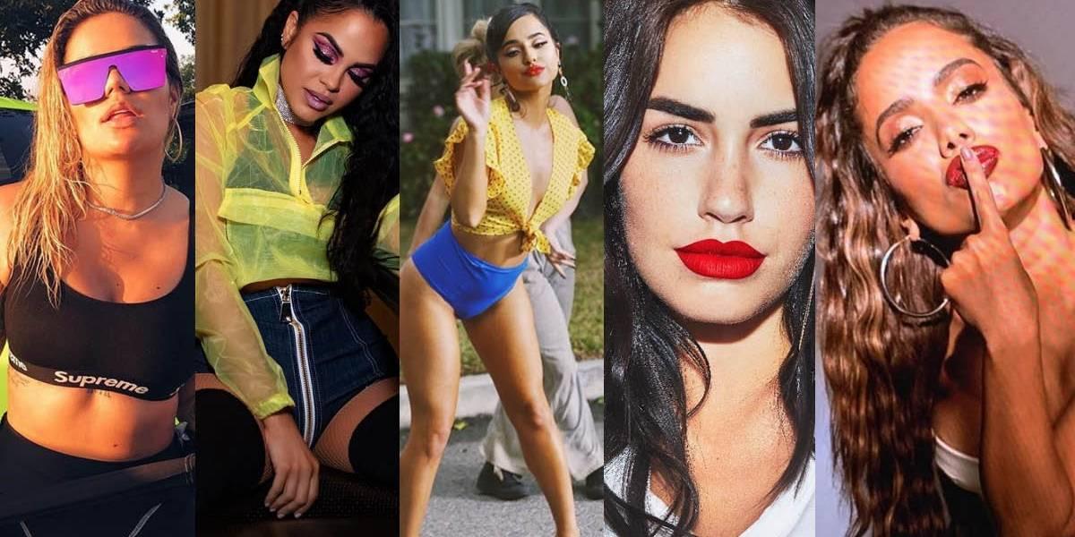 La foto de Karol G, Becky G, Natti Natasha, Anitta y Lali juntas previo a los Premios Billboard 2019