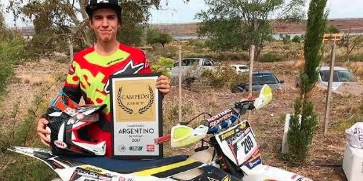 Muere piloto de 18 años tras sufrir accidente en competencia