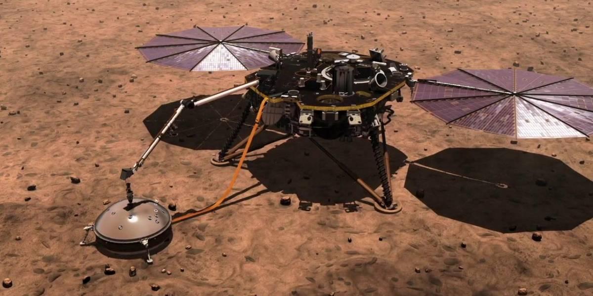 Sonda InSight da NASA detecta possível terremoto em Marte