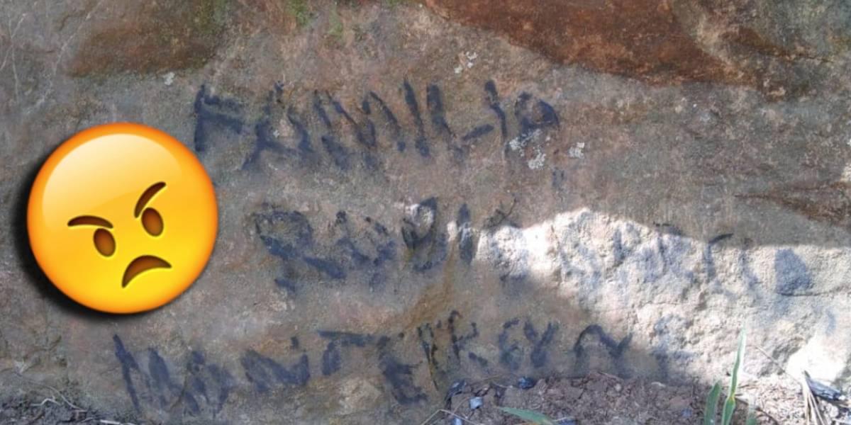 Encuentran a la familia que vandalizó la Piedra de Elefante en Tamaulipas