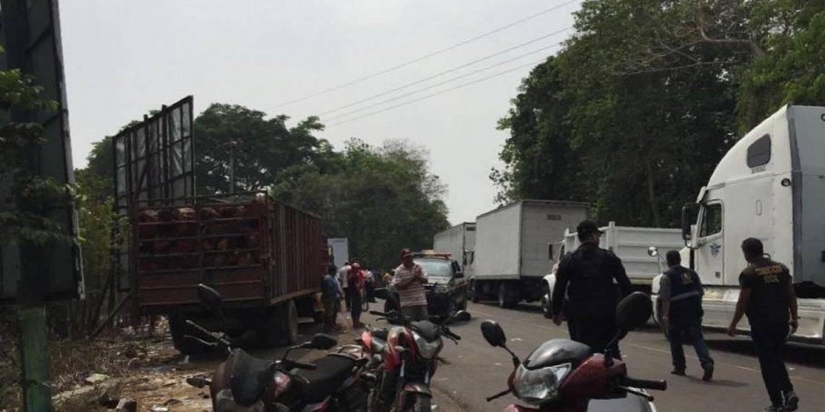 Pobladores liberan paso en el kilómetro 248 de la ruta a Tecún Umán
