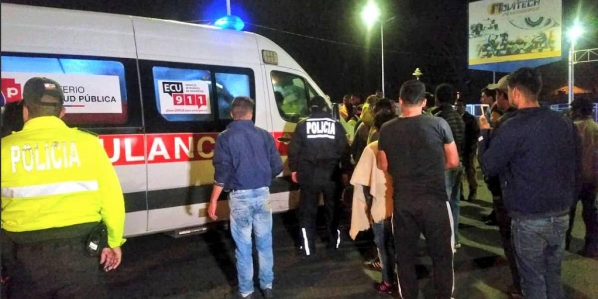 Incidentes en el puente de Rumichaca dejan dos heridos