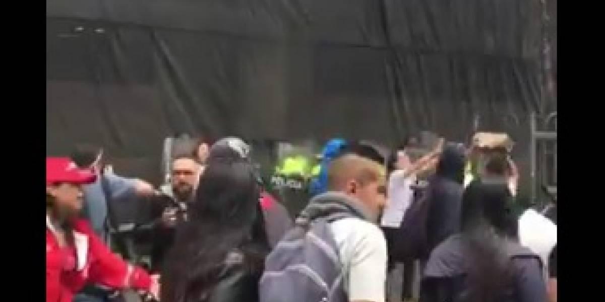 Disturbios empañan la concentración del paro nacional en la Plaza de Bolívar