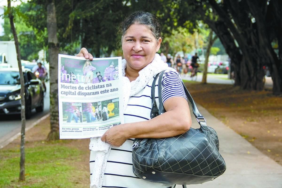 Edinalva Nascimento dos Santos Silva, 49 anos, diarista André Porto/Metro
